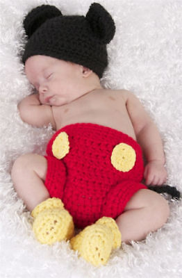 Newborn Baby Girl Boy Crochet Knit Costume Photo Photography Prop Hats Outfits 5