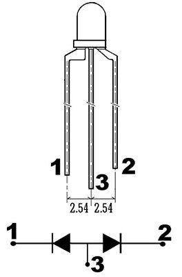 S434 20 Stück DUO LEDs 3mm Bi-Color warmweiß rot 3-pin Lichtwechsel Loks DIGITAL