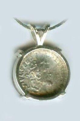 AD194 Roman Silver Denari Emperor Severus Prosperity Goddess Fortuna Emesa Syria 2