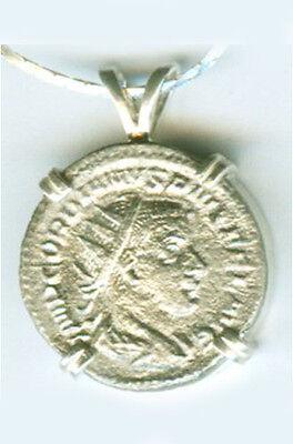 AD243 Silver Roman Denarius Teen Emperor Gordian + Joy Gladness Goddess Laetitia 2