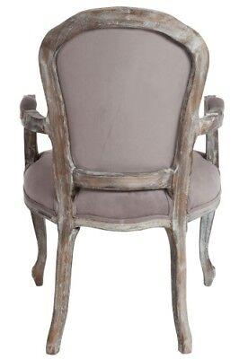 Poltroncine In Legno Con Braccioli.Sedia Con Braccioli Provenzale Francese Poltrona Vintage Chic Legno