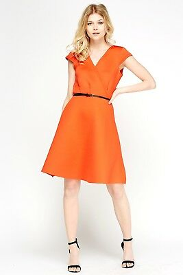 04670bae5a0 ... LADIES 60 s STYLE TWIGGY MOD SKATER DRESS PADDED VINTAGE PLUS SIZE 8-18  CURVE 2