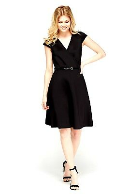 688916fca7d ... LADIES 60 s STYLE TWIGGY MOD SKATER DRESS PADDED VINTAGE PLUS SIZE 8-18  CURVE 3