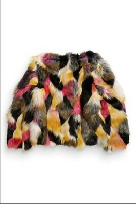 BNWT Next Faux Fur Winter Coat Jacket Multi Coloured 4-5-6-7-8-9 Years 2
