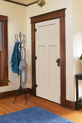Superior 1 Of 7 Craftsman 3 Panel Primed Smooth Molded Solid Core Wood Composite Interior  Doors