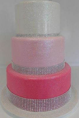Bling Ribbon Sparkly Sugarcraft Cake Decorating Card Craft Mesh Silver Diamante Other Decorations