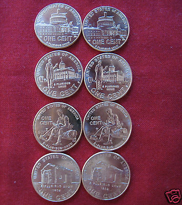 2009 Lincoln Cents Complete Bicentennial 8 Uncirculated Penny Coin Set whotoldya 2