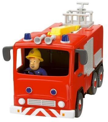 Nouveau Fireman Sam Friction Jupiter Fire Engine avec articulé figurine Sam