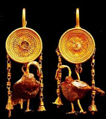 HUGE Ancient Earrings 600 Color Pix Jewelry Egypt Rome Greece Byzantine Medieval 4