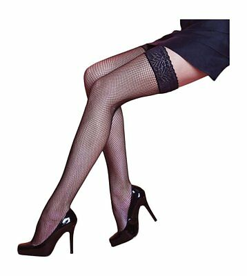 60ddf228edb ... Fishnet Hold Ups with Classic Luxurious Floral Lace Top Hold up Stay Up-kp  5