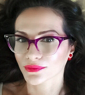e174cce5f7bff ... Sexy Cat Eye Pin up Ombre Demi Kitti Eyeglasses Glasses Gradient  Vintage Frames 2