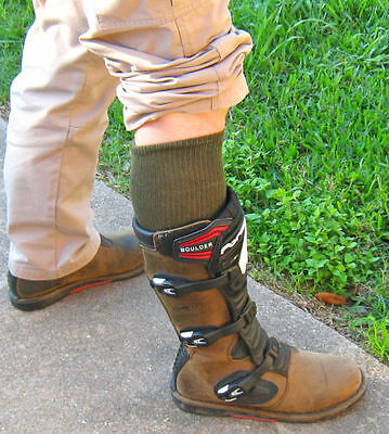 Military Army Over The Calf Green Boot Socks 6 Pairs Made In USA Various Sizes 5