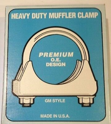 - GM Style 1 3//4 Heavy Duty Muffler Clamp - 3//8 U BOLT 2 pcs MADE IN USA