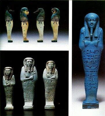 Ancient Egyptian Faience Nubia Religion Jewelry Amulets Beads Funerary Masks Pix 8