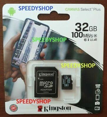 KINGSTON Micro SD 32 GB class 10 PLUS MICROSD 100MB/S Canvas SCHEDA MEMORIA 2020 2
