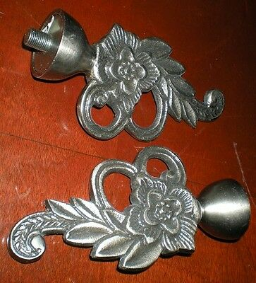 Smithed Posy Finials (2) – Aluminum – Antique Silver