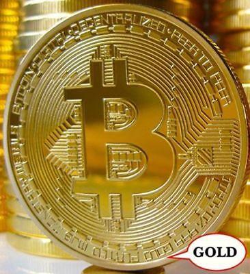 Oro placcato moneta Bitcoin da collezione regalo fisico BTC Coin Art Collection 4