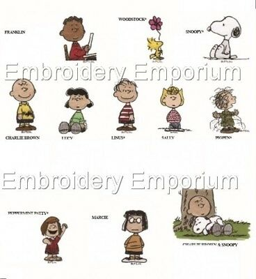 MACHINE EMBROIDERY DESIGNS ON CD OR USB PEANUTS GANG COLLECTION