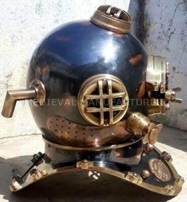 "Antique 18"" Diving vintage BOSTON MARK V U.S Navy Deep Sea Divers Helmet Replica 3"