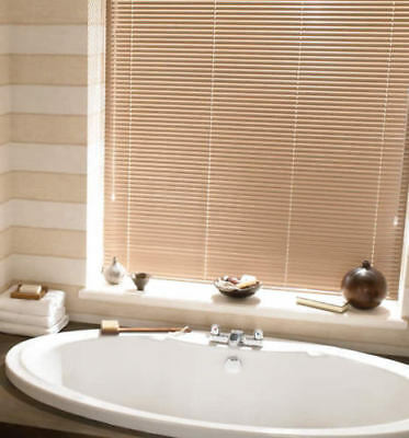 Window Blinds Easy fit PVC Venetian Blinds Wood Effect Trimable Home Office New 7