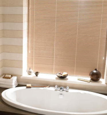 New PVC Blinds Window Venetian Easy Fit Blinds Home Office Wood Effect All Sizes 7