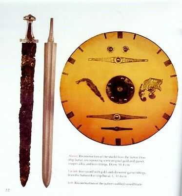 Sutton Hoo Treasures Anglo-Saxon Ship Burial Gold + Garnet Jewelry Sword Helmet 5