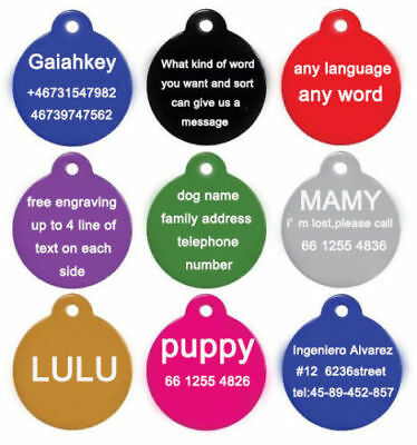 Personalized Dog Cat Collar Name Tag Engraving ID Custom Owner Phone Address 2