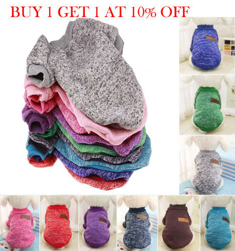 Pet Clothes Knitted Puppy Dog Jumper Sweater For Small Dogs Coat Cat UK STOCK 3
