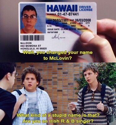 McLovin ID from Movie Superbad Fogels Fake Joke 3