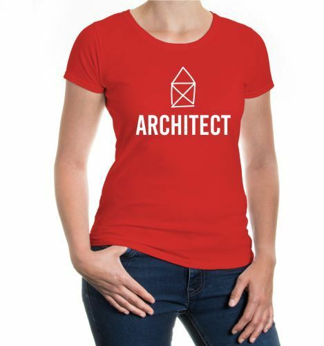 Damen Kurzarm Girlie T-Shirt Architect Architekt Hausplaner Beruf Job Design