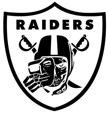 2 of 3 oakland raiders skull logo window wall art door truck vinyl sticker decal v01