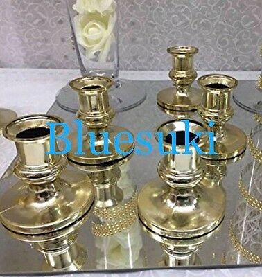 2 Of 3 16 Plastic Acrylic Candle Holders For Taper Candles Sweet Weddings Choose
