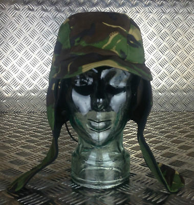 Genuine British Army Goretex MVP Woodland DPM Dog / Trapper Hat with Ear Flaps