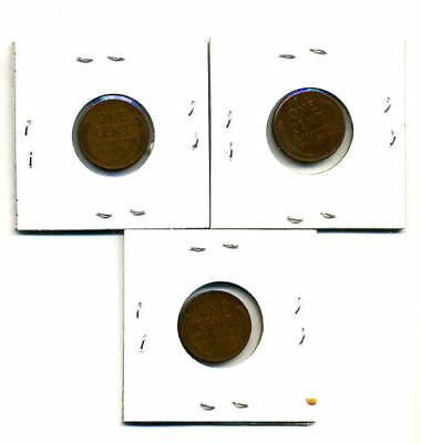 1949 P,d,s Wheat Pennies Lincoln Cents Circulated 2X2 Flips 3 Coin Pds Set#167 2