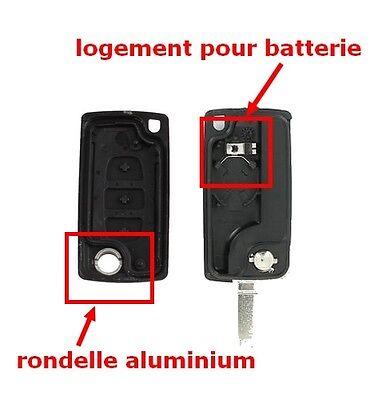 Coque Plip Télécommande Clé pour Citroen Berlingo 3 boutons Coffre CE0536 VA2 5