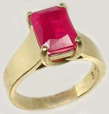Antique 19thC 3¼ct+ Red Ruby Solid 14kt Gold Ancient Roman Judicial Talisman 2