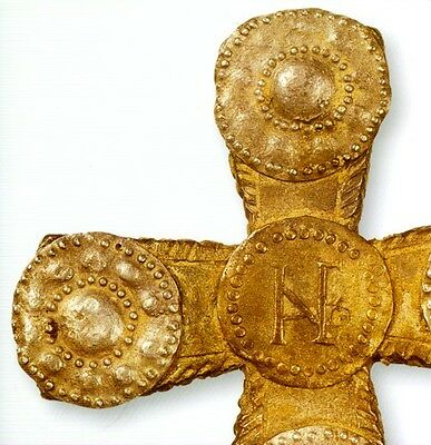 """500AD Medieval Byzantine Lombard Italy """"Barbarian"""" Gold Sheet Jewelry Ornaments 4"""
