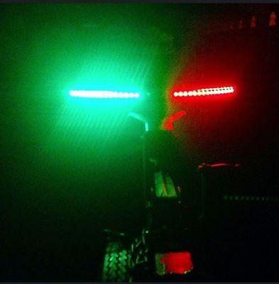 "- 12/"" strips - Lifetime WARRANTY PREMIUM Boat BOW LED Lighting RED /& GREEN"