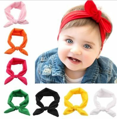 Baby Toddler Girls Kids Bunny Rabbit Bow Knot Turban Headband Hair Band Headwrap 5