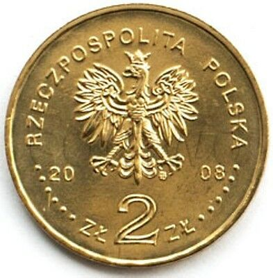 """Poland 2008-2 zlotych /""""90th Anni of Greater Poland Uprising/"""" UNC"""