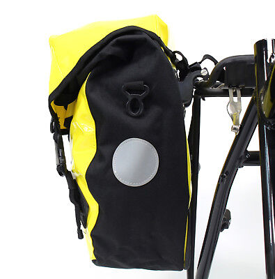 YELLOW AAWYEAH WATERPROOF BICYCLE TOURING//SHOPPING PANNIER BAG