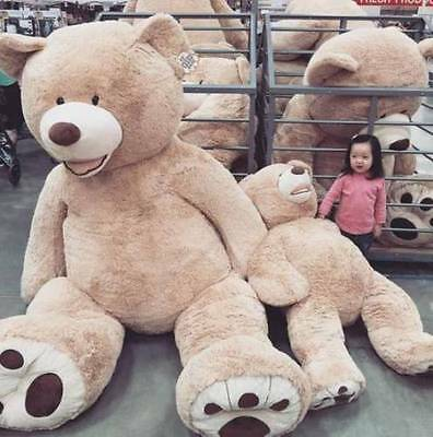 "78/"" 200 cm Brown Giant Skin Teddy Bear Big Stuffed Toy Christmas Gift Hot A"