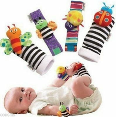 Lamaze Rattle Set Baby Sensory Toys Foot-finder Socks Wrist Rattles Bracelet. 6