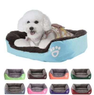 Large pet kennel dog mat cat bed washable candy color square nest soft warm mat 5
