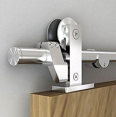 6.6FT Easy install top mount stainless steel sliding barn door hardware trackkit 2