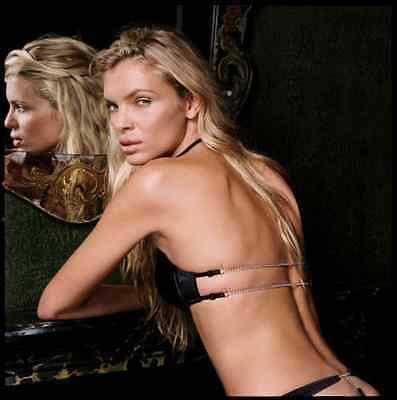 La/'licia Black Backless Diamond Halter Neck For Low Back Dresses Bra 36B BNWT
