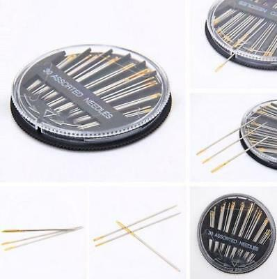 Assorted Hand Sewing NEEDLES -  Embroidery Mending Craft Quilt Case Sew 30pcs UK 4