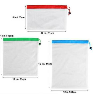 15x Eco Friendly Reusable Mesh Produce Bags Superior Double-Stitched Strength AU 5