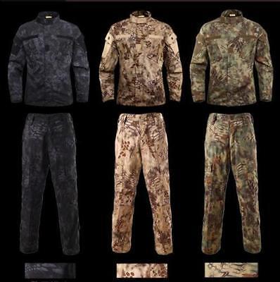 23dfcd3971f4e ... MANDRAKE Military BDU Tactical Uniform Shirt Pants Kryptek Hunting  Airsoft Suit~ 12