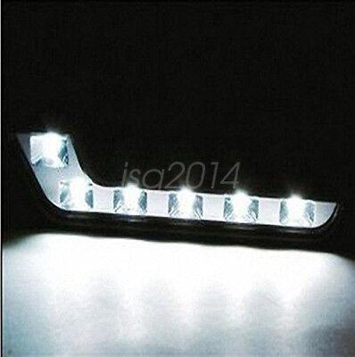 12V Tagfahrlicht Set Auto Universal 6 LED Nebelscheinwerfer DRL 6W Xenon Weiß